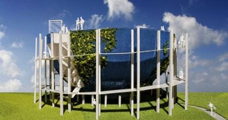 Macada Innovision bouwde een doorzicht projectiescherm voor de Rabobank